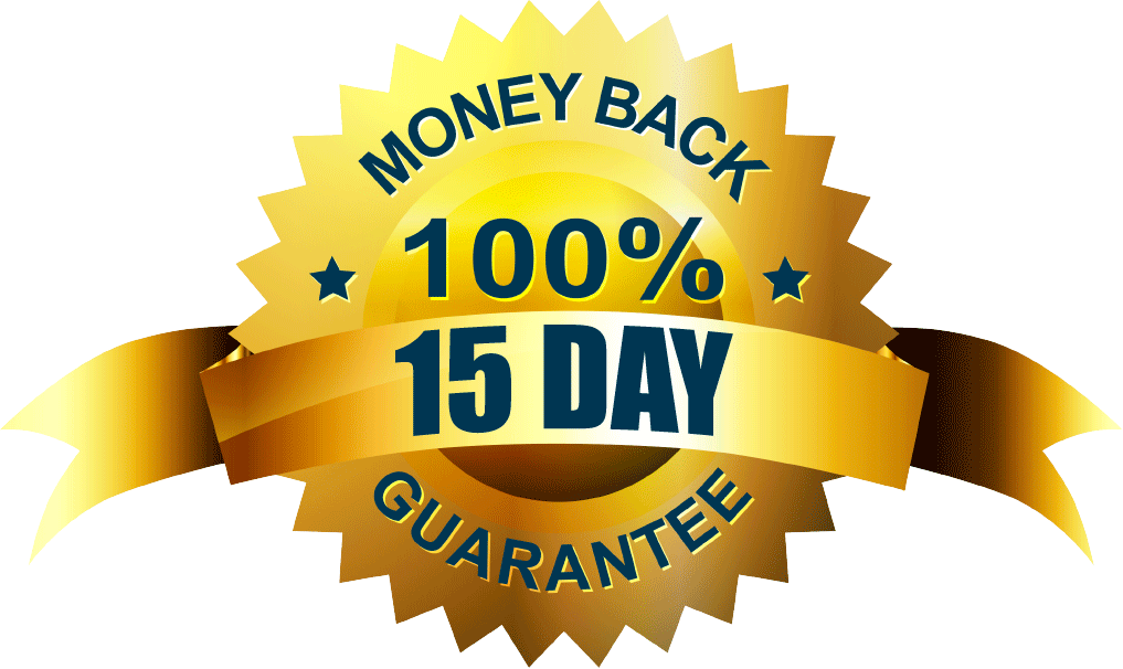 15-Day Money Back Guarantee